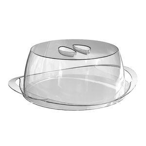 Porta-Bolo-Transparente-com-tampa-Transparente-em-Poliestireno-UZ167-TR---UZ-Utilidades