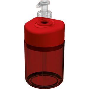 Porta-Sabonete-Liquido-Vermelho-Translucida-em-Poliestireno-UZ503-VM---UZ-Utilidades