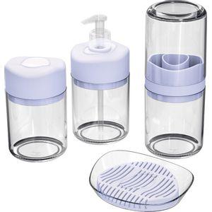 Kit-Higiene-4-pecas-Transparente-com-Divisoria-Branca-UZ512-BR---UZ-Utilidades