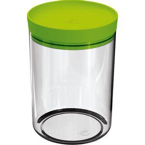 Pote-Mantimentos-14L-Transparente-com-Tampa-Verde-Claro-UZ313-VCL---UZ-Utilidades
