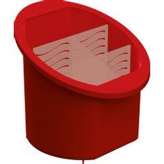 Porta-Talheres-Separador-e-Organizador-Vermelho-UZ314-VM---UZ-Utilidades