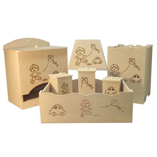 Kit-Bebe-Menino-c-Abajur---MDF-a-Laser-