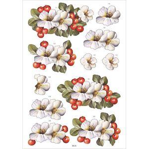 Recortes-para-Scrapdecor-3D-Cerejas-e-Hibisco-DC15--Toke-e-Crie