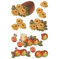 Recortes-para-Scrapdecor-3D-Rosas-e-Laranjas-DC14--Toke-e-Crie