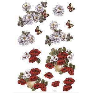 Recortes-para-Scrapdecor-3D-Rosas-Brancas-e-Papoulas-DC16---Toke-e-Crie