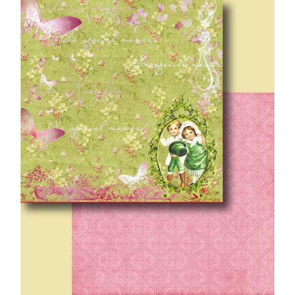 Papel-Scrapbook-Duplo-Flores-LSCD-233-Litocart