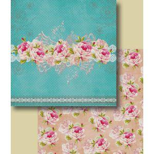 Papel-Scrapbook-Duplo-Flores-LSCD-229-Litocart-