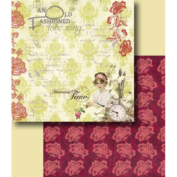Papel-Scrapbook-Duplo-Flores-LSCD-235-Litocart