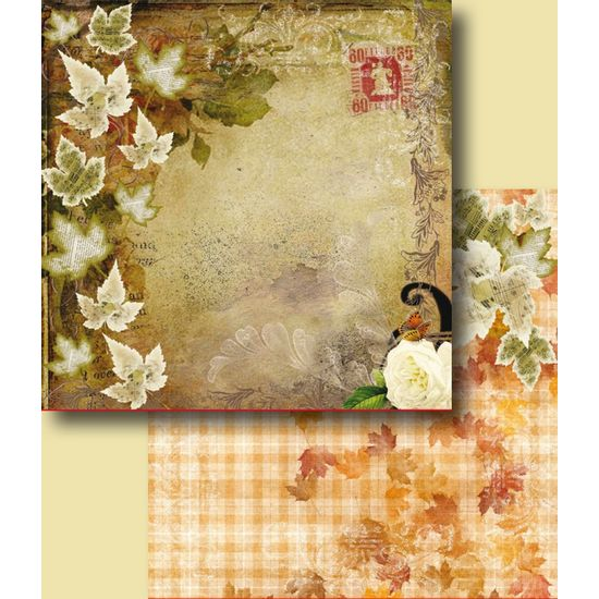 Papel-Scrapbook-Duplo-Flores-LSCD-227-Litocart