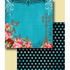 Papel-Scrapbook-Duplo-Flores-LSCD-232-Litocart