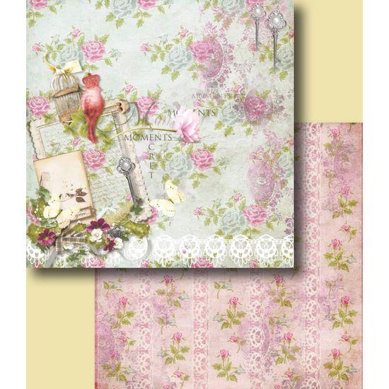 Papel-Scrapbook-Duplo-Flores-LSCD-234-Litocart