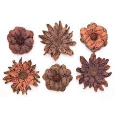 Flores-Artesanais-Vintage-Manuscrito-I-Marrom-Flor72-Toke-e-Crie