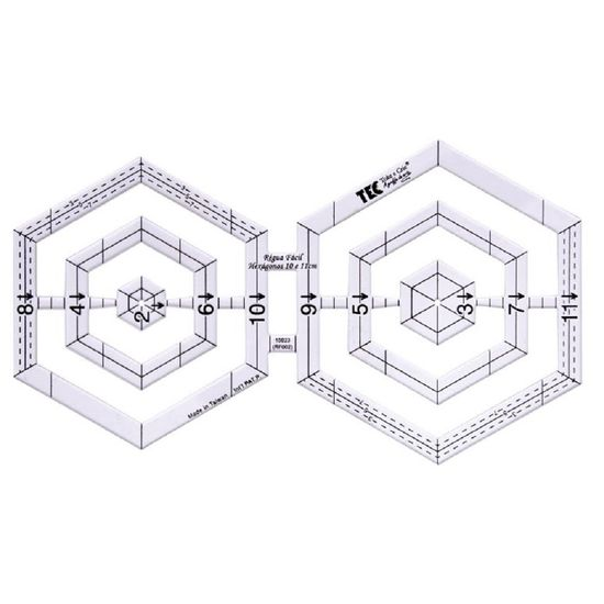 Regua-Facil-Hexagonos-10-e-11cm-RF002-Toke-e-Crie