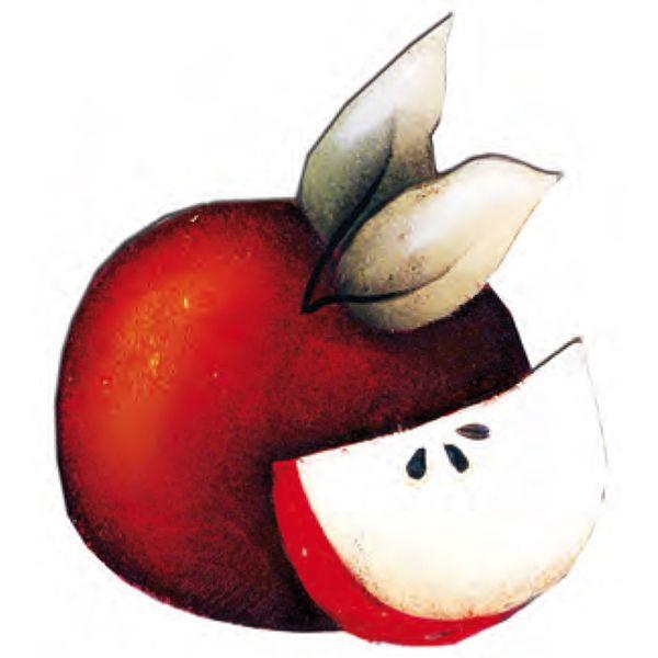Aplique-Madeira-e-Papel-Fruta-Maca-LMAPC-117---Litocart--