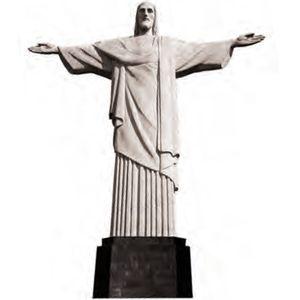 Aplique-Madeira-e-Papel-Cristo-Redentor-LMAPC-142---Litocart