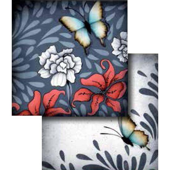 Papel-Scrapbook-Duplo-Flores-LSCD-241-Litocart