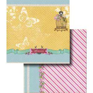 Papel-Scrapbook-Duplo-Flores-LSCD-257-Litocart