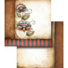 Papel-Scrapbook-Duplo-Flores-LSCD-252-Litocart-