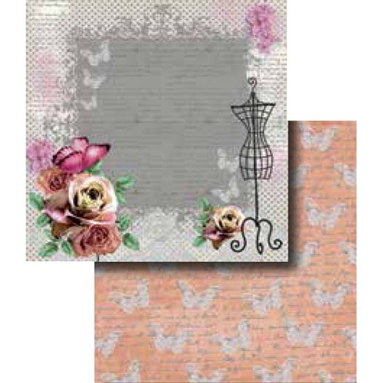 Papel-Scrapbook-Duplo-Flores-LSCD-258-Litocart