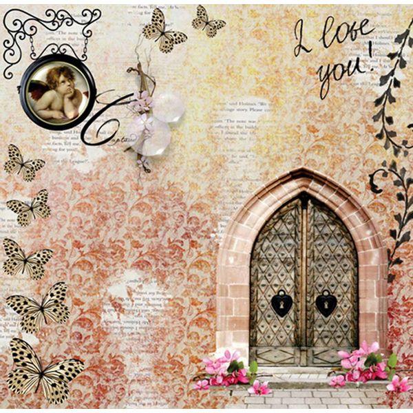 Papel-Scrapbook-com-Gliter-Love-LSCG-11---Litocart-