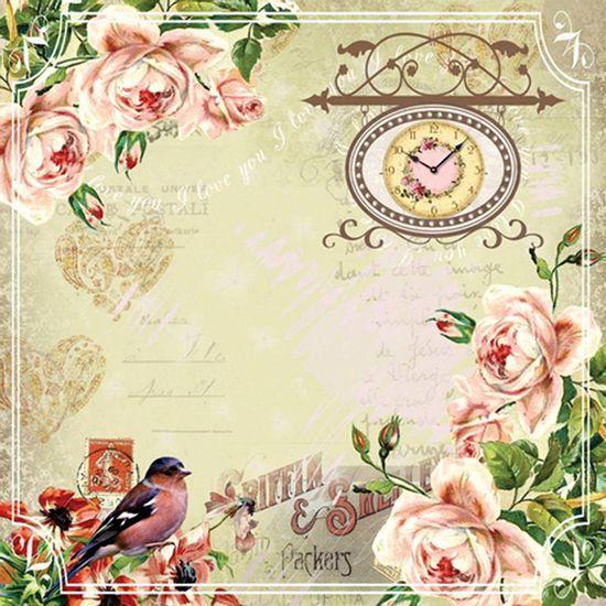 Papel-Scrapbook-com-Gliter-Flores-LSCG-08---Litocart