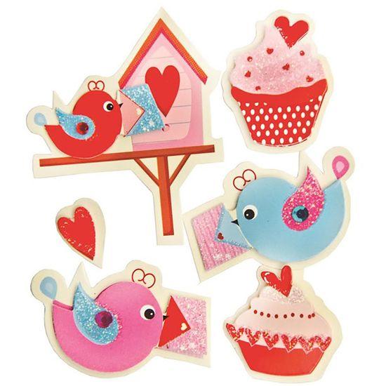Adesivo-FM-com-Glitter-Mini-Passaros-e-Cupcake-AD1497---Toke-e-Crie