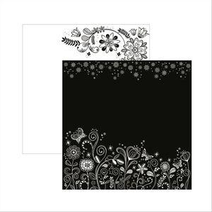 Papel-Scrapbook-Floral-Preto-e-Branco-Jardim-SDF433---Toke-e-Crie-