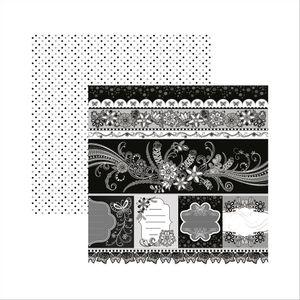 Papel-Scrapbook-Floral-Preto-e-Branco-Barrinhas-e-Tags-SDF436---Toke-e-Crie