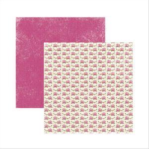 Papel-Scrapbook-Princesa-Encantada-Carruagens-SDF470---Toke-e-Crie-