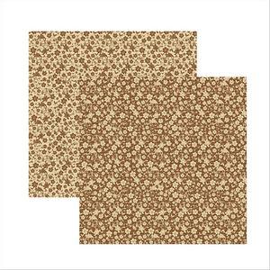Papel-Scrapbook-Classic-Floral-Marrom-KFSB305---Toke-e-Crie