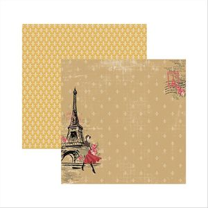 Papel-Scrapbook-Paris-Fashion-Torre-SDF472---Toke-e-Crie