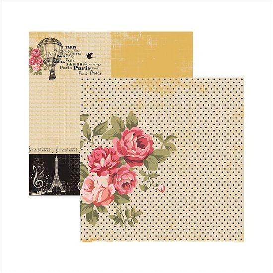 Papel-Scrapbook-Paris-Fashion-Rosas-SDF474---Toke-e-Crie