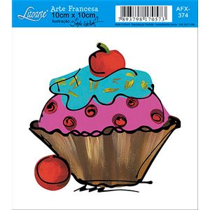 Decoupage-Adesiva-Litoarte-Cup-Cake-AFX-374---Litoarte