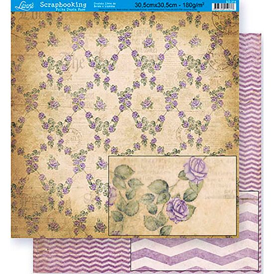 Scrapbook-Folha-Dupla-Face-Flores-SD-314---Litoarte