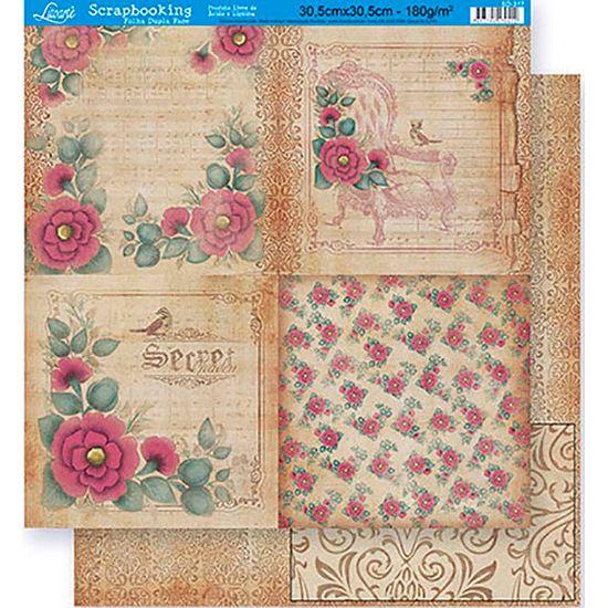 Scrapbook-Folha-Dupla-Face-Flores-SD-317---Litoarte