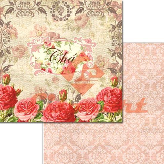 Papel-Scrapbook-Duplo-Flores-LSCD-238-Litocart