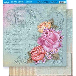 Scrapbook-Folha-Dupla-Face-Flores-SD-347---Litoarte-