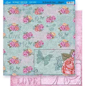 Scrapbook-Folha-Dupla-Face-Flores-SD-348---Litoarte