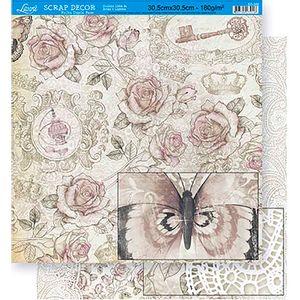 Scrapbook-Folha-Dupla-Face-Flores-SD-350---Litoarte