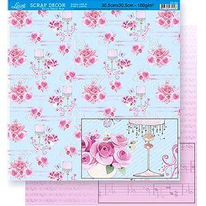 Scrapbook-Folha-Dupla-Face-Flores-SD-354---Litoarte-