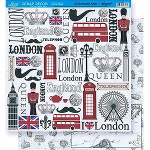 Scrapbook-Folha-Dupla-Face-London-SD-361---Litoarte-