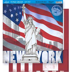 Scrapbook-Folha-Dupla-Face-New-York-SD-362---Litoarte