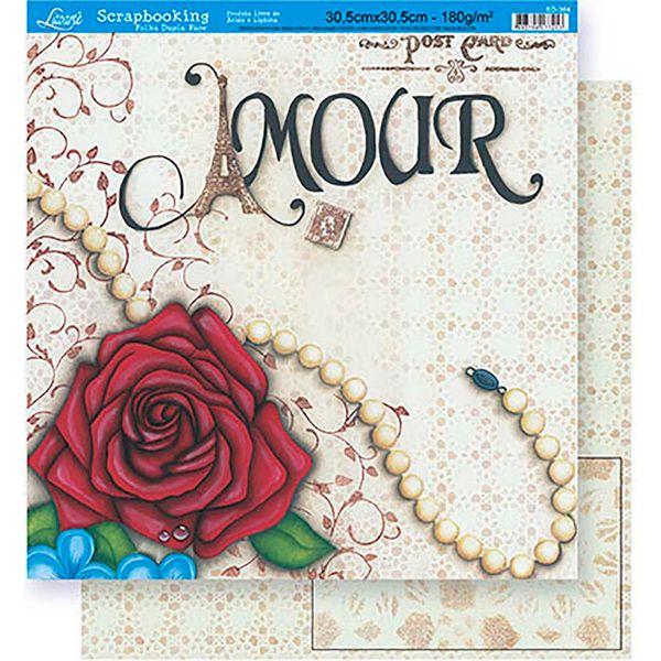 Scrapbook-Folha-Dupla-Face-Flores-SD-364---Litoarte
