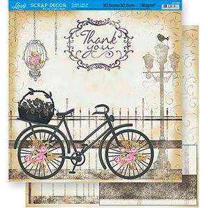 Scrapbook-Folha-Dupla-Face-Bicicleta-SD-368---Litoarte