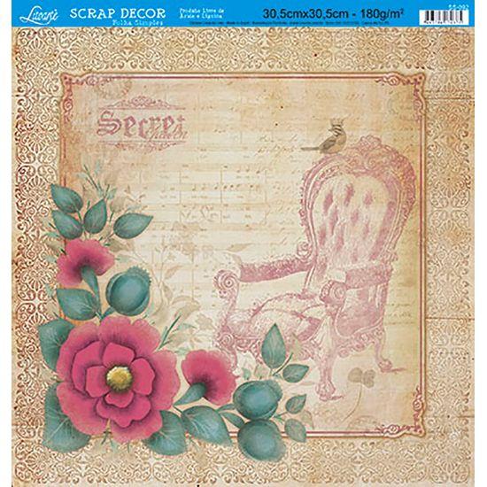 Papel-Scrap-Decor-Folha-Simples-Flores-SS-092---Litoarte-