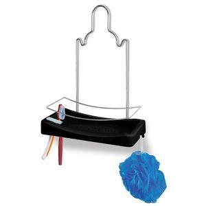 Porta-Shampoo-Simples-Cromo-Colors-Aco-e-Plastico-Preto-348-7---Niquelart