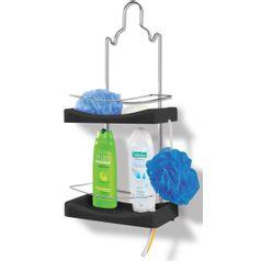 Porta-Shampoo-Duplo-Cromo-Colors-Aco-e-Plastico-Preto-349-7---Niquelart