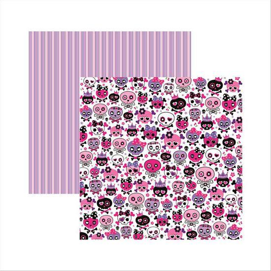 Papel-Scrapbook-Dupla-Face-Caveiras-Pink-Divertidas-SDF450---Toke-e-Crie-
