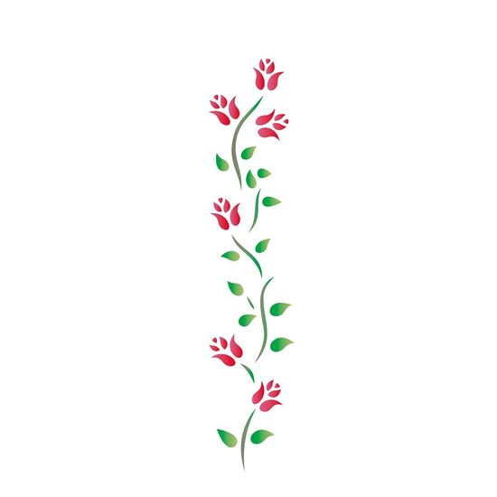 Estencil-para-Pintura-Simples-6x30-Ramo-Rosas-OPA801---Opa-