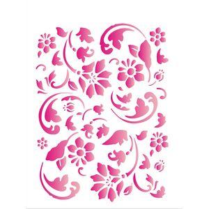 Estencil-para-Pintura-Simples-15x20-Estamparia-Floral-II-OPA1006---Opa